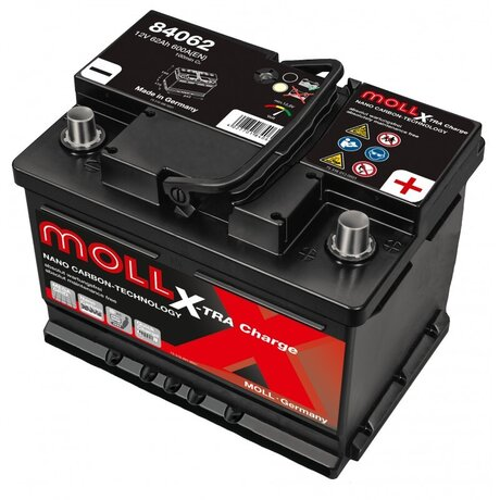 MOLL X-TRA CHARGE POWER 62AH 600A R+