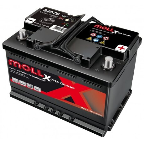 MOLL X-TRA CHARGE POWER 75AH 680A R+